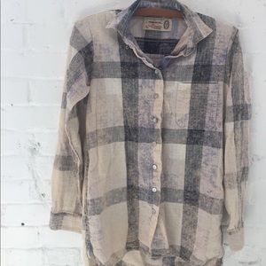 Free People Artisan De Luxe plaid buttondown small